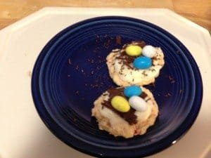 Easter Egg Nests Sugar Cookies