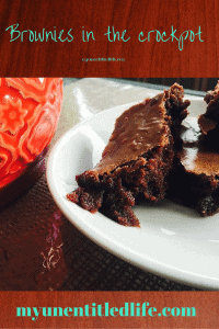How do you make brownies without an oven…Crockpot…of course.