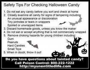 Halloween Safety Tips printable
