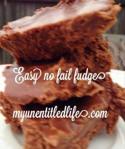 easy no fail fudge recipe