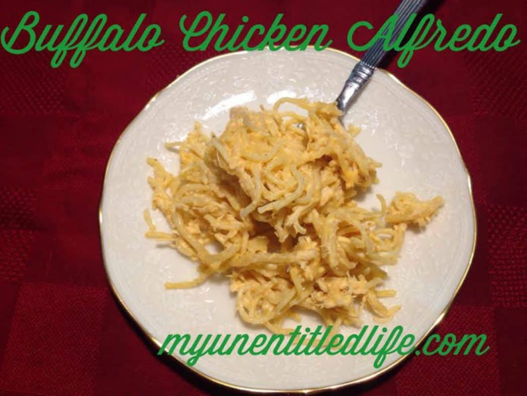 buffalo chicken alfredo pasta