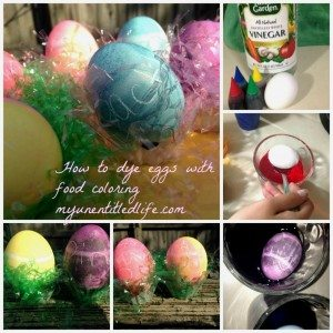 how to dye eggs using food coloring