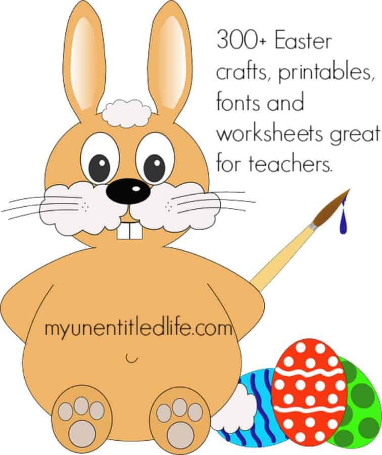 300+ Easter crafts, printables, fonts and worksheets great for teachers.
