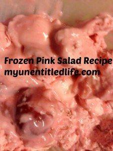 My grandma's frozen pink salad recipe
