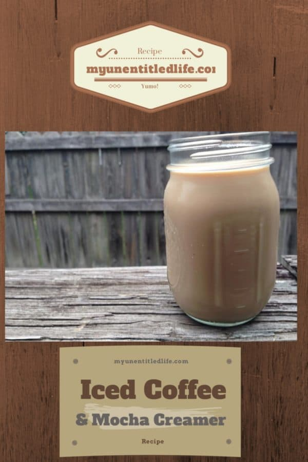 Iced coffee and mocha creamer recipe for you to save money on drinks at home.