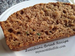 Zucchini bread recipe and a Tasty Tuesday Link up!