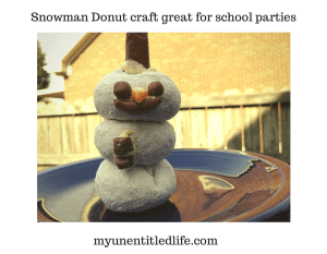 Snowman Donut craft great for parties