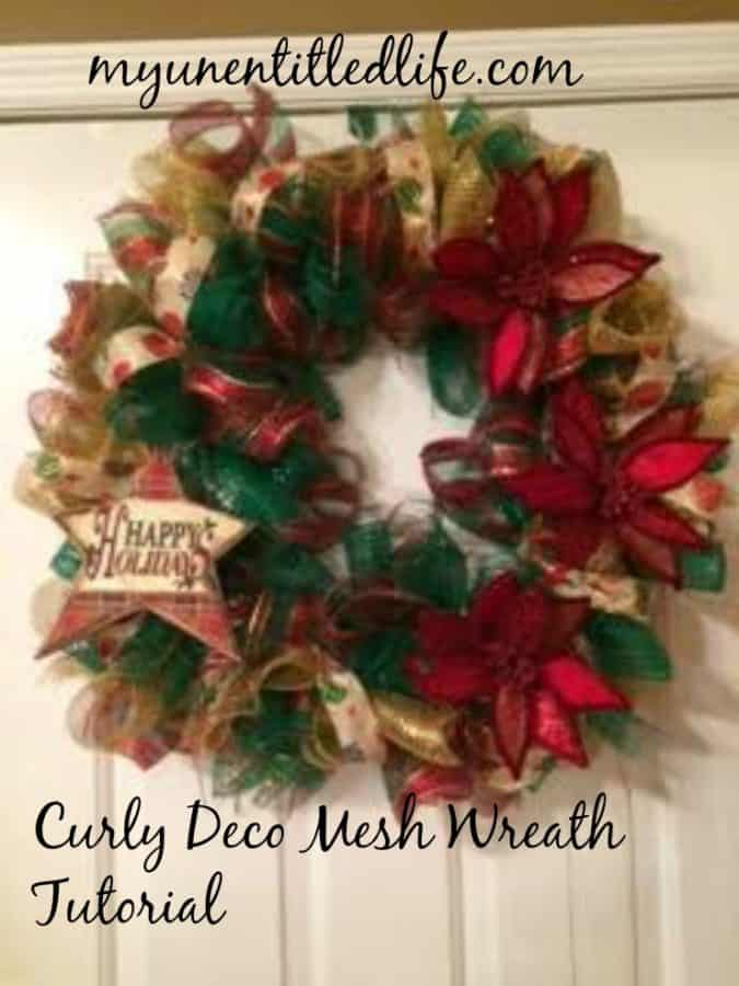 How to make a Curly Deco Mesh Wreath Tutorial