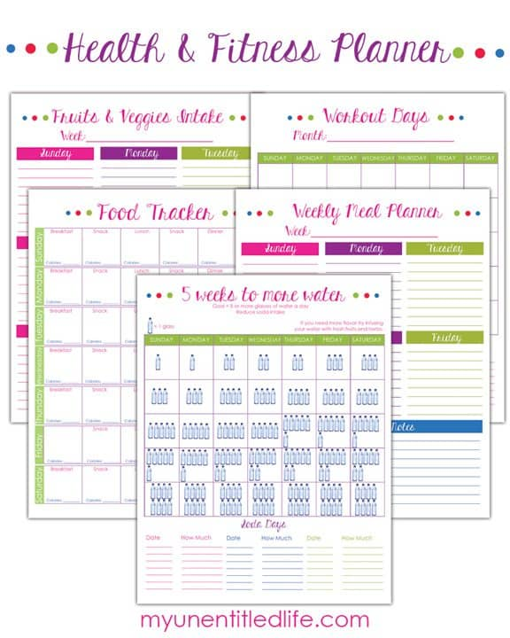 Weight Loss Tracker and Fitness Planner free printable