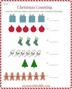 Christmas counting printable