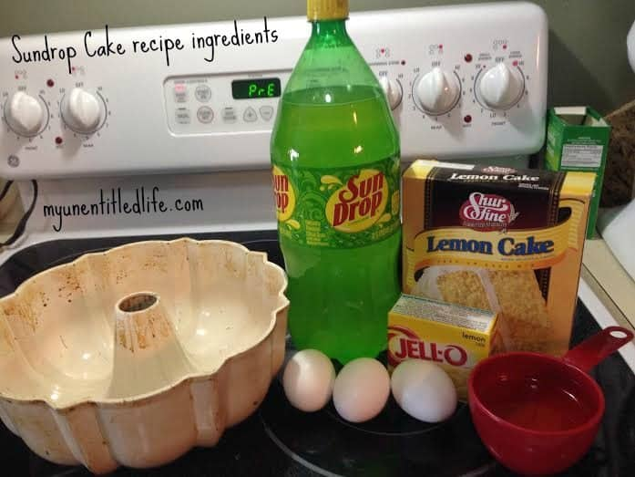 sundrop cake ingredient recipe