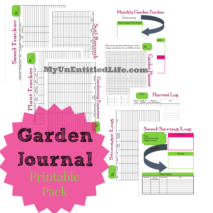 Garden Journal printable pack