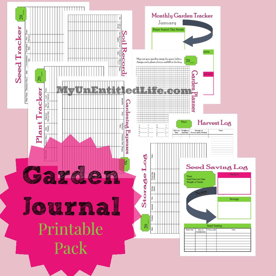 garden journal printable pack