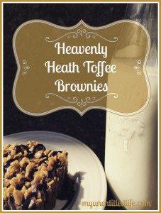 heavenly heath toffee brownies