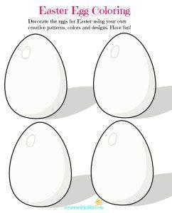 Easter Egg Coloring sheet