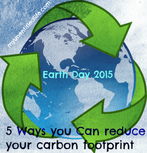 5 ways to reduce your carbon footprint this Earth Day