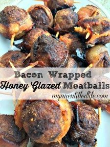 bacon wrapped honey glazed meatballs recipe