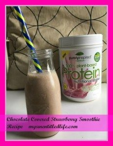 chocolate covered strawberry smoothie.