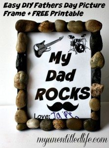 Easy DIY Fathers Day Picture Frame + FREE Printable