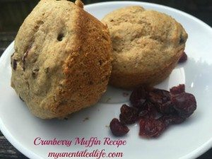 Cranberry Orange muffin recipe made healthy with protein powder #PurelyInspired #ad