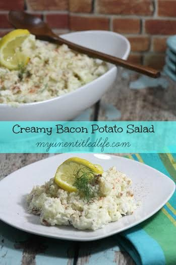 This recipe will steal your next barbeque! Make and take my creamy bacon potato salad and they'll be nothing left.