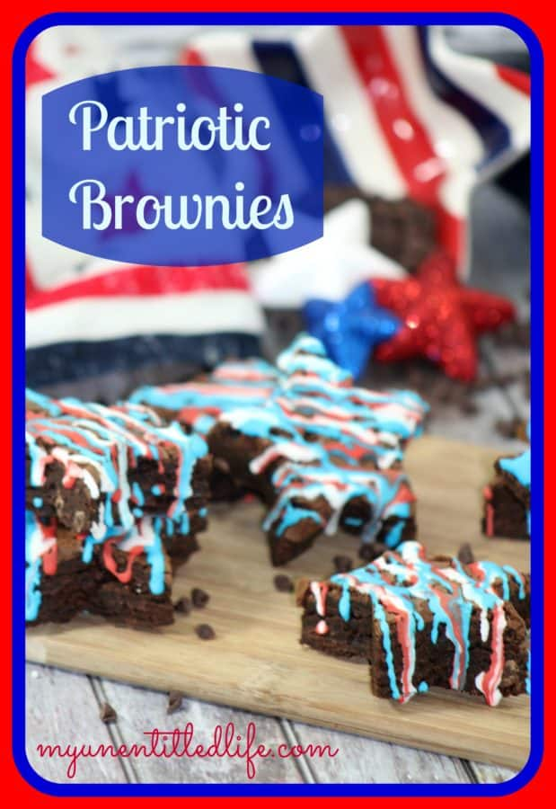 Make a fun brownie dessert to take to your next Patriotic or July 4th party.