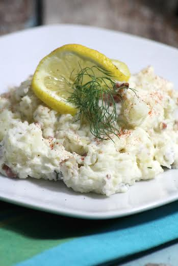 creamy bacon potato salad with dill