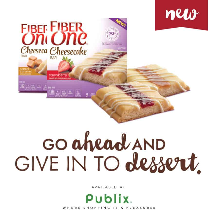 Fiber One Cheesecake Bars at Publix