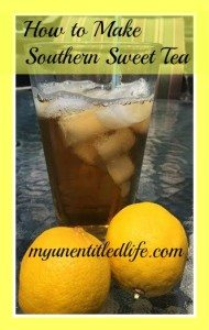 How to make Southern Sweet Tea