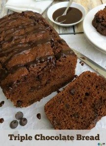 Triple Chocolate Bread #12daysof