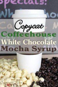 Copycat coffeehouse white chocolate mocha syrup #12daysof