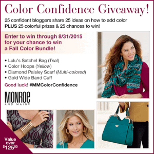 Gain confidence with color in this Monroe and Main #MMColorConfidence