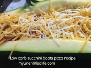 Low Carb Zucchini Boat Pizza recipe