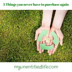 5 things you never have to purchase again!
