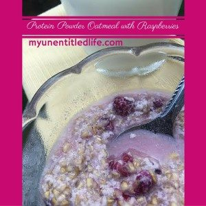 protein powder oatmeal with raspberries recipe