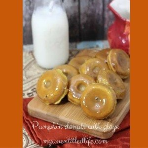 pumpkin donuts with glaze