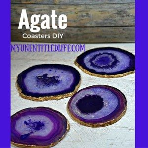 agate coasters diy