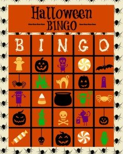 Halloween Bingo printables a great party game