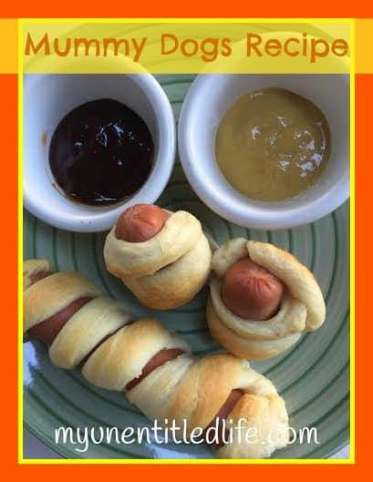 Looking for a fun way to get kids to eat? Check out Mummy dogs and their sauces.