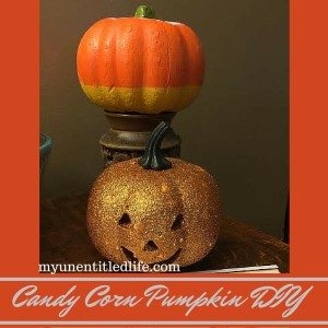 Candy Corn Pumpkin DIY and a prepare for Halloween printable #Treats4All #ad #CollectiveBias