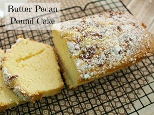 Butter Pecan Pound Cake #12daysof