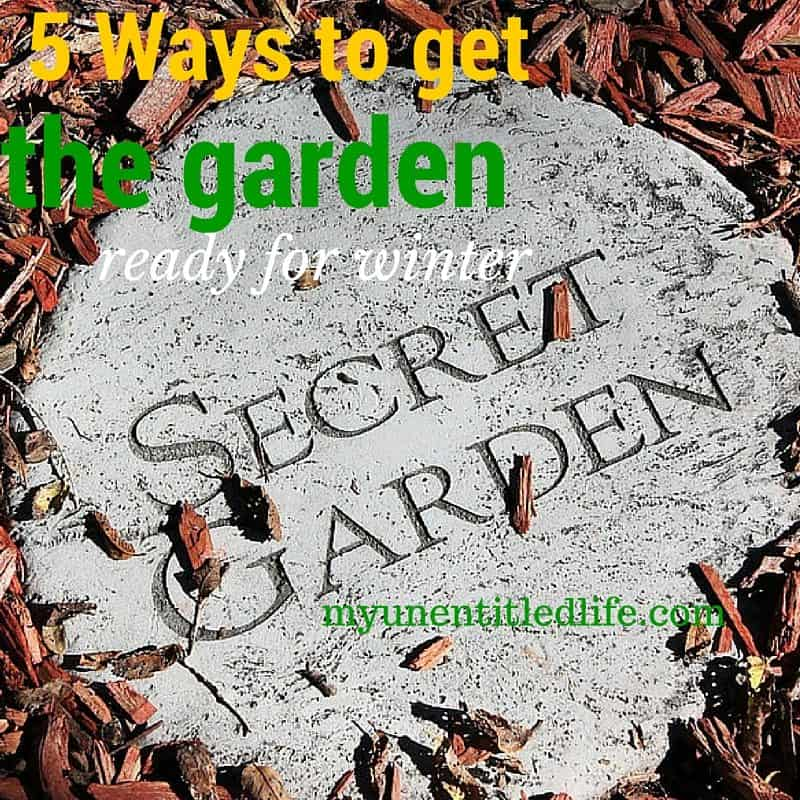 5 WAYS TO GET YOUR GARDEN READY FOR WINTER