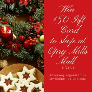 Win $50 to spend at Opry Mills (Nashville, TN mall) and get shopping on me! @shOpryMills