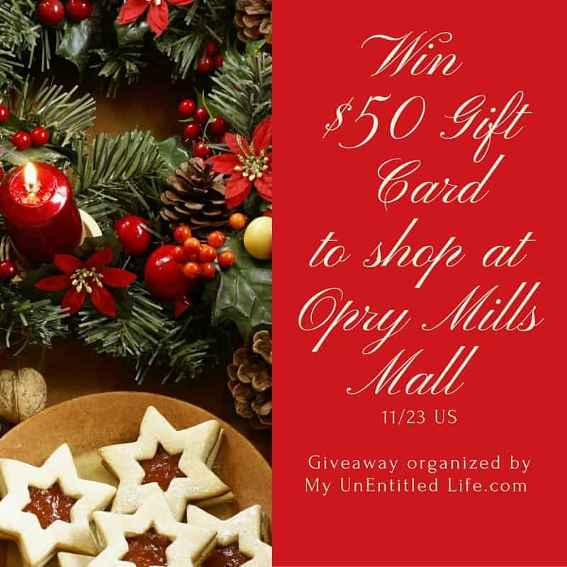 win $50 opry mills gift card
