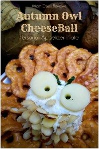 Mini Owl Cheese Ball Plates #12daysof