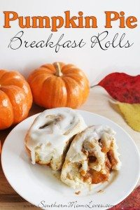 pumpkin pie breakfast rolls