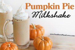 Pumpkin Pie Milkshake #12daysof