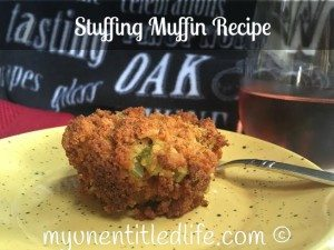 Stuffing Muffins Recipe a yummy addition to your Thanksgiving table.