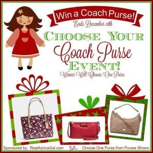 Choose your own Coach Purse Giveaway 12/18 US