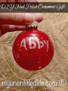 diy nail polish ornament gift idea